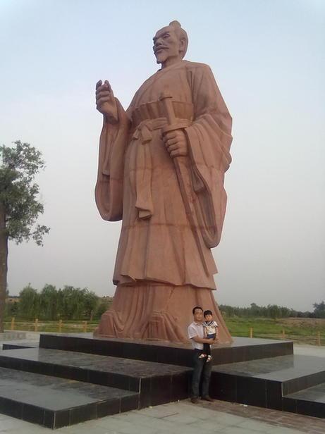 国内最大的单体毛遂雕像在鸡泽落成